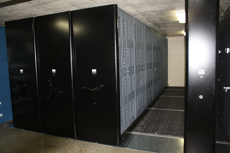 High-density system showing aisle access to weapon storage cabinets & Weapon Storage u0026 Armory Projects - SEK Solutions