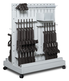 Expandable Weapon Rack Double Sided Cart